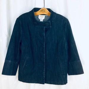 Talbots Stretch Denim Jacket 3/4 sleeve PETITE S